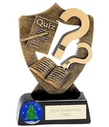 "Christmas Quiz Trophy 13.5cm (5.25"")"