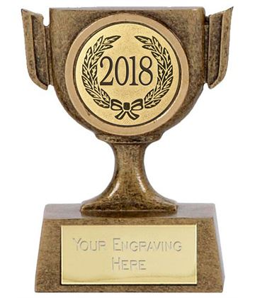"2018 Resin Mini Star Cup Trophy 6.5cm (2.5"")"
