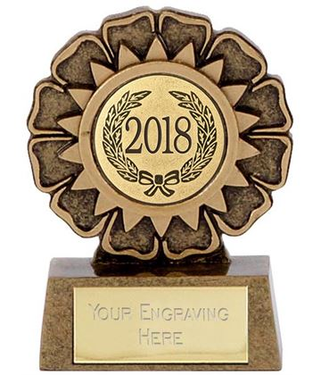 "2018 Resin Mini Star Rosette Trophy 6.5cm (2.5"")"