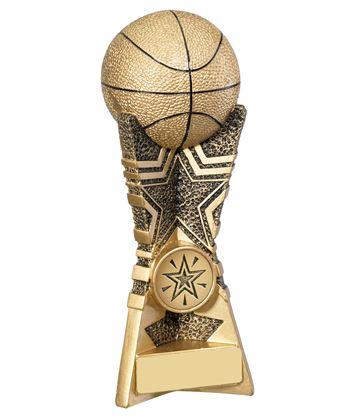 "3D Basket Ball Star Trophy 18cm (7"")"