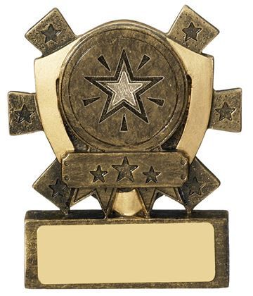 "Multi Award Mini Shield Trophy 8cm (3.25"")"