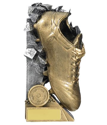 "Football Boot Breakout Trophy Gold & Silver 15cm (6"")"