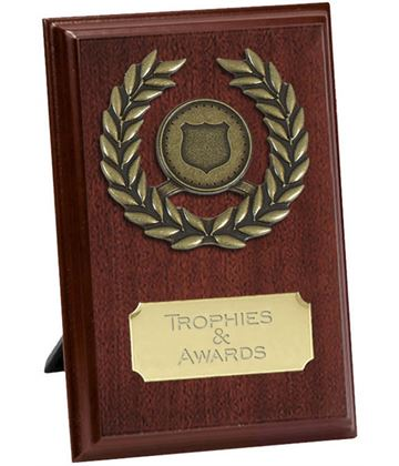 "Pure Laurel Wreath Plaque Award 15cm (6"")"