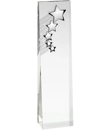 "Optical Crystal Star Glass Plaque Award 20.5cm (8"")"