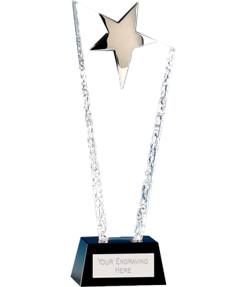 "Major Star Crystal Glass Award 27.5cm (11"")"