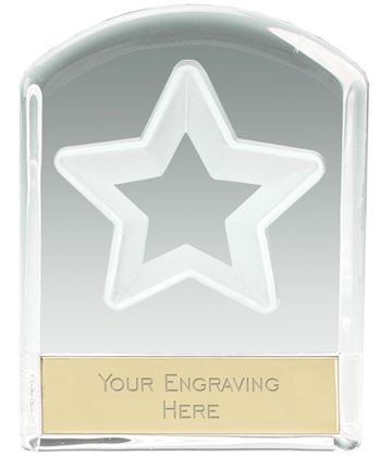 "Star Arched Top Glass Award 11cm (4.25"")"