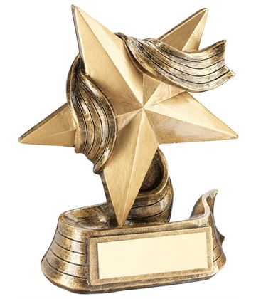 "Resin Star Achievement Multi Award Trophy 10cm (4"")"