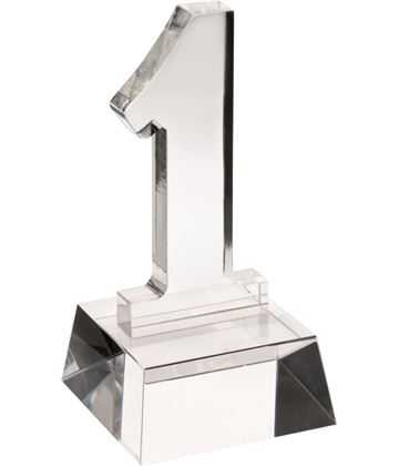 "Heavyweight Clear Glass No.1 Award 14cm (5.5"")"