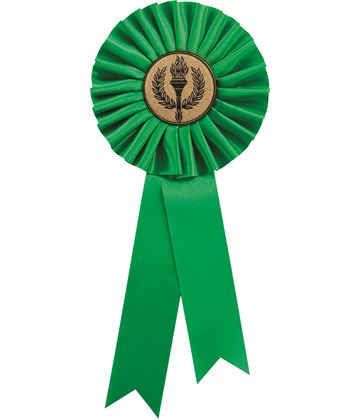 "Single Tier Green Rosette 30cm (11.75"")"