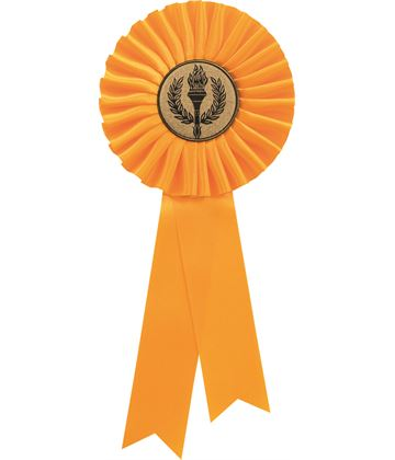 "Single Tier Yellow Rosette 30cm (11.75"")"