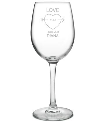 "Love You Forever Large Personalised Wine Glass 20.5cm (8"")"