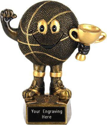 """Novelty Basketball Trophy 14cm (5.5"""")"""