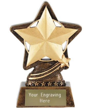 "Star Trophy by Infinity Stars 10cm (4"")"