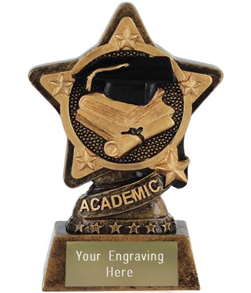 "Academic Trophy by Infinity Stars 10cm (4"")"