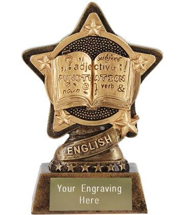 """English Trophy by Infinity Stars 10cm (4"""")"""
