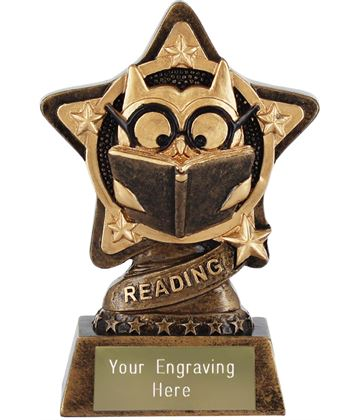 """Reading Trophy by Infinity Stars 10cm (4"""")"""
