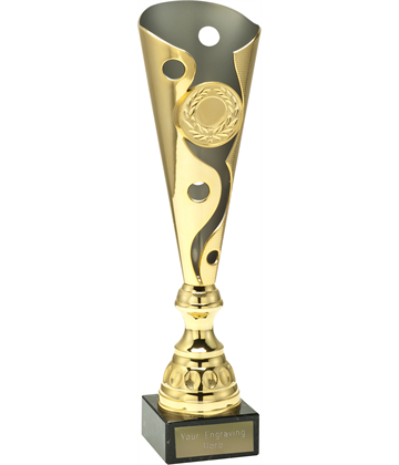 "Gold Carnival Trophy Cup On Marble Base 40.5cm (16"")"