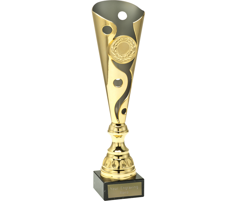 "Gold Carnival Trophy Cup On Marble Base 36.5cm (14.5"")"