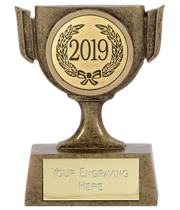 "2019 Resin Mini Star Cup Trophy 6.5cm (2.5"")"