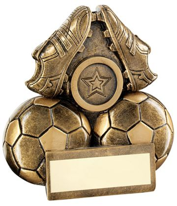 "Pair Of Football Boots Trophy 7.5cm (3"")"