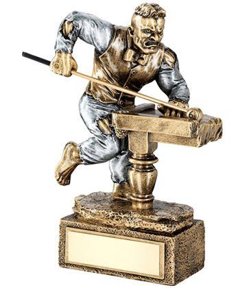 "Novelty 'The Beast' Pool Trophy 17cm (6.75"")"