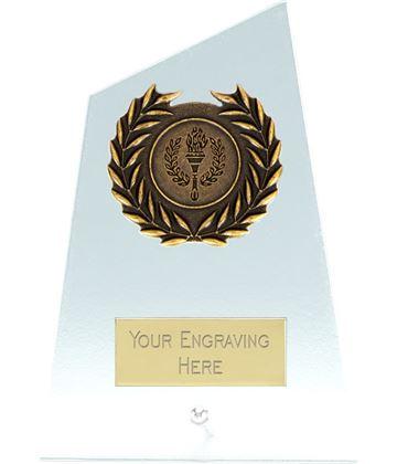 """Elite Peak Laurel Wreath Glass Plaque Award 12.5cm (5"""")"""