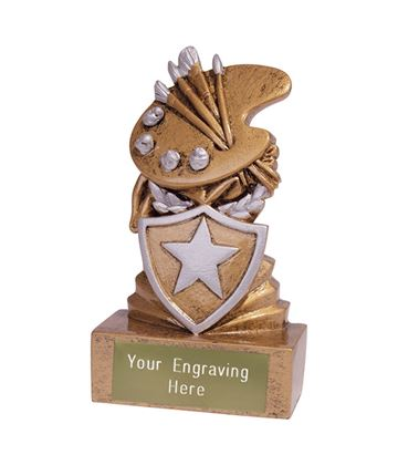 Mini Art Shield Trophy 9.5cm (3.75)