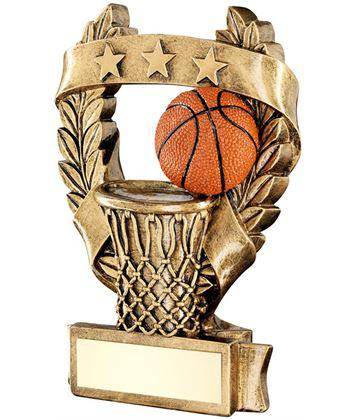 """Star Laurel Wreath Basketball Trophy 12.5cm (5"""")"""