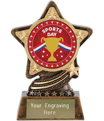 "Sports Day Trophy by Infinity Stars 10cm (4"")"