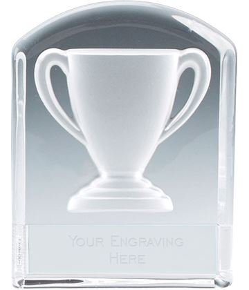 "Trophy Cup Arched Top Glass Award 11cm (4.25"")"