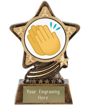 "Clapping Hands Emoji Trophy by Infinity Stars 10cm (4"")"