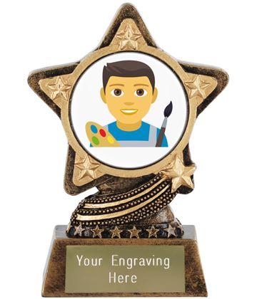 "Man Artist Emoji Trophy by Infinity Stars 10cm (4"")"