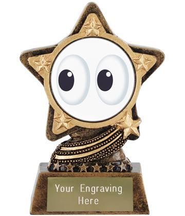 "Eyes Emoji Trophy by Infinity Stars 10cm (4"")"