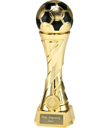 "Football Trophy Heavyweight Sculpture Gold 19cm (7.5"")"