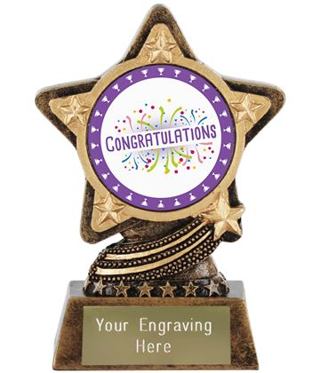 "Congratulations Trophy by Infinity Stars 10cm (4"")"
