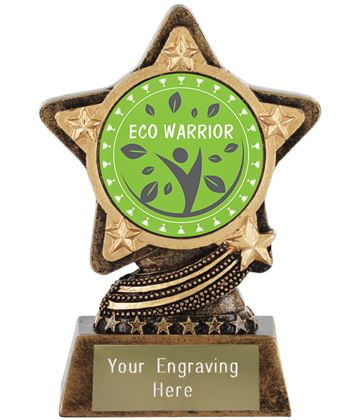 "Eco Warrior Trophy by Infinity Stars 10cm (4"")"