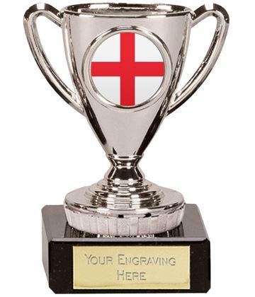 "English Trophy Mini Cup Silver 10cm (4"")"