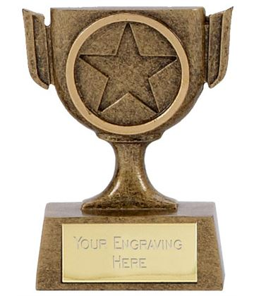 "Resin Mini Star Cup Trophy 6.5cm (2.5"")"