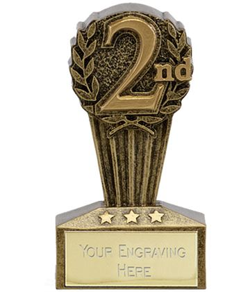 "Micro Trophy Second Award 7.5cm (3"")"