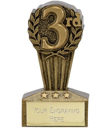 "Micro Trophy Third Award 7.5cm (3"")"