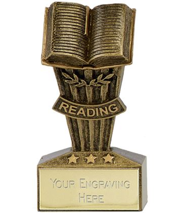 "Micro Trophy Reading Award 7.5cm (3"")"