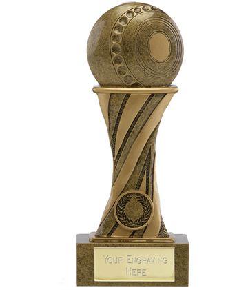 "Showcase Antique Gold Resin Lawn Bowls Award 21.5cm (8.5"")"