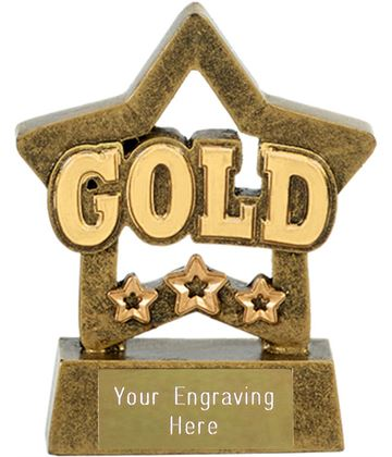 "Gold Mini Star Award 8cm (3.25"")"