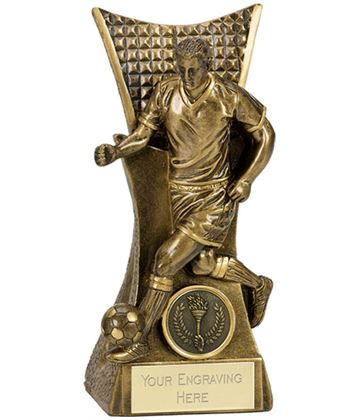 "Action Football Antique Gold Conqueror Award 14cm (5.5"")"