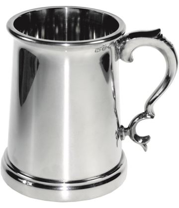 "Plain Vanguard 1pt Sheffield Pewter Tankard 12cm (5"")"