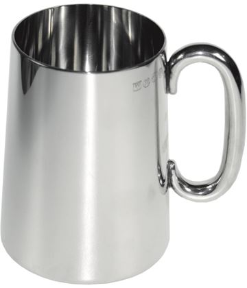 "Plain Imperial 1pt Sheffield Pewter Tankard 13cm (5.25"")"