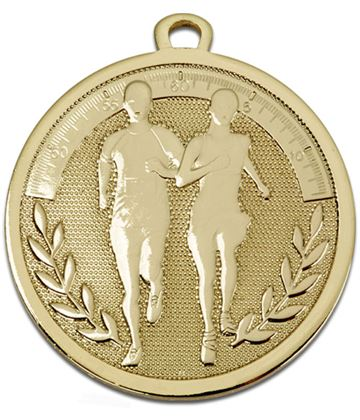 "Gold Galaxy Running Medal 45mm (1.75"")"