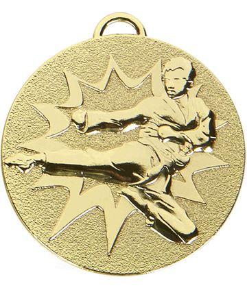 """Gold Target Karate Medal 50mm (2"""")"""