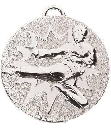 """Silver Target Karate Medal 50mm (2"""")"""
