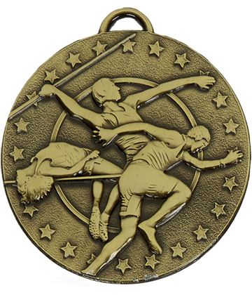 "Bronze Target Track & Field Medal 50mm (2"")"